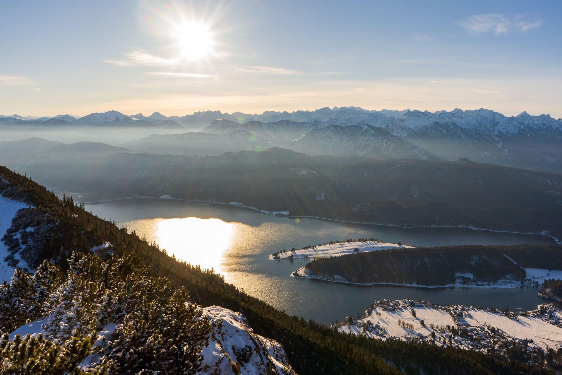 Blick auf den Walchensee vom Martinskopf