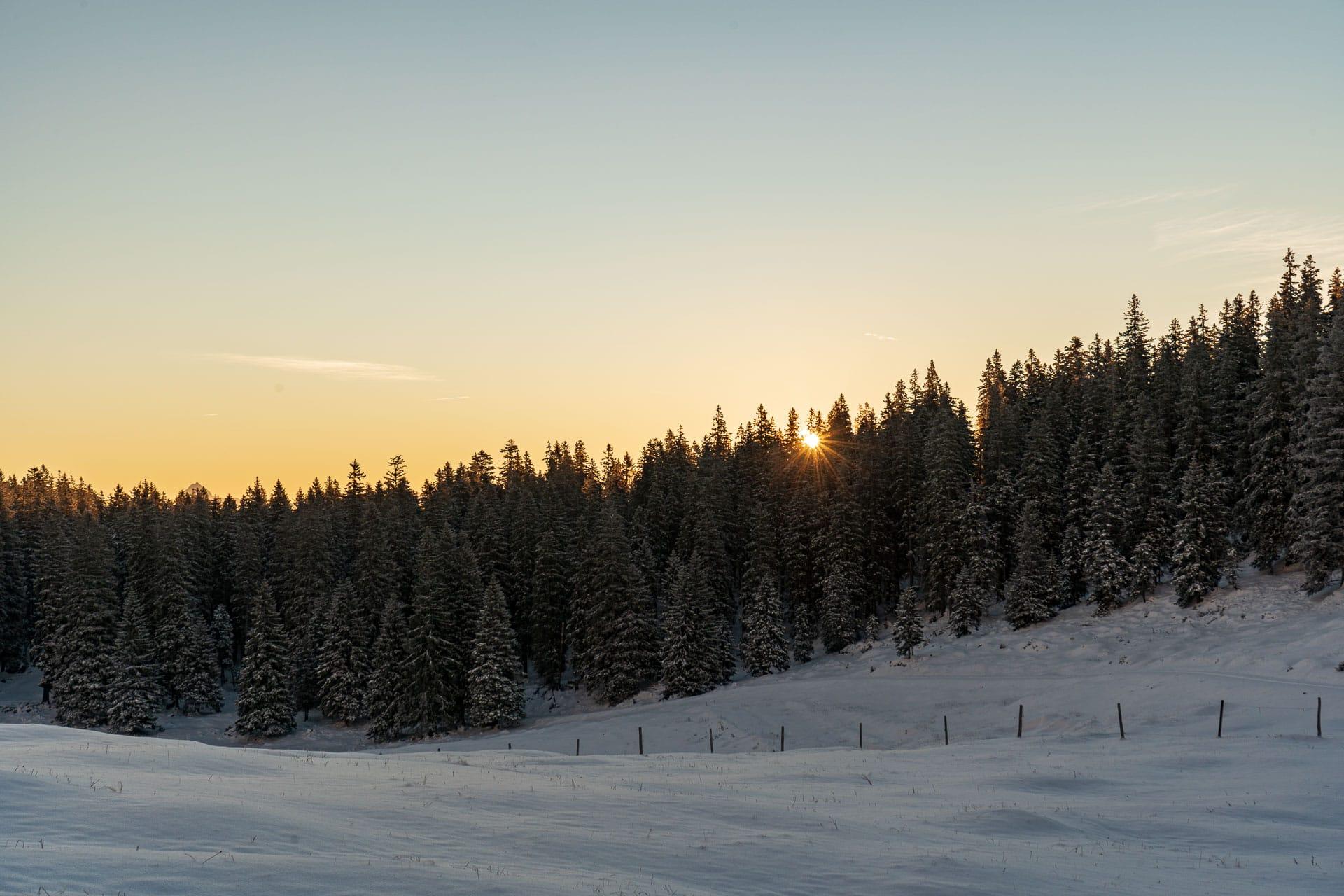 Sonnenaufgang an der Jochbergalm