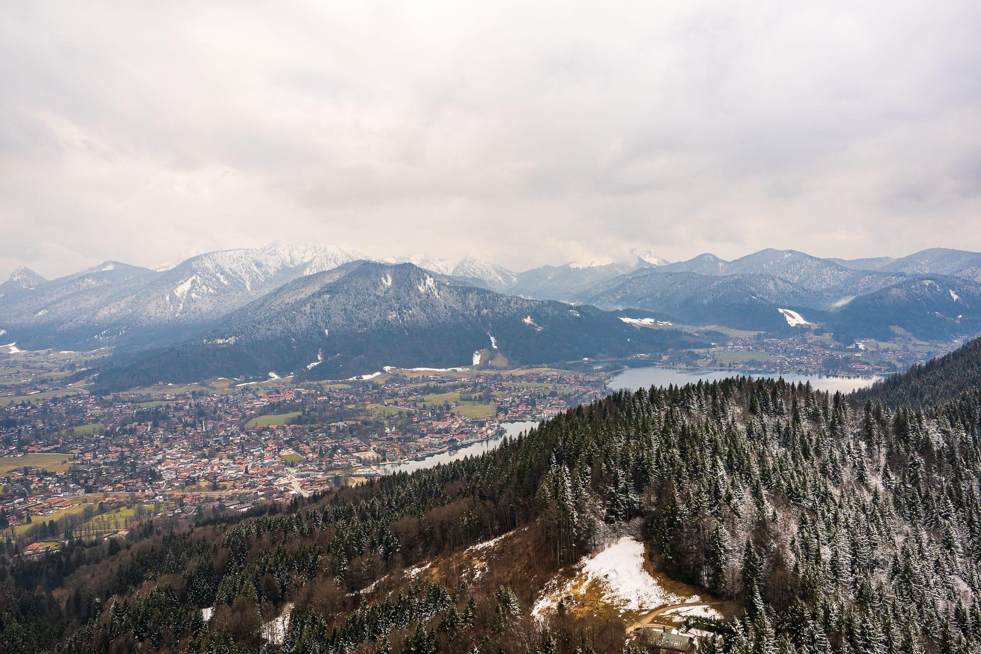 Blick vom Riederstein aufs Tegernseer Tal