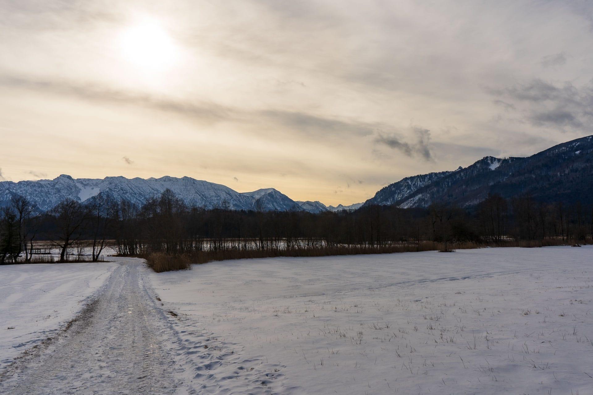 Murnauer Moos im Schnee