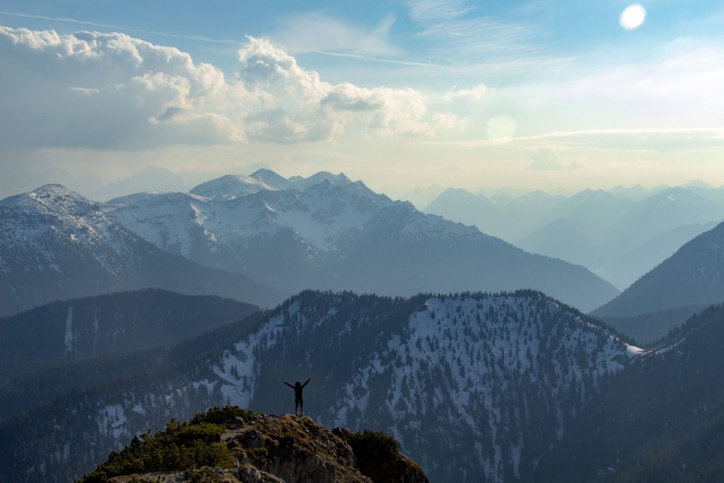 Fotoshooting am Gipfel
